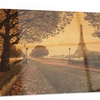 Vintage Style View of Paris Landscape Metal Wall Art 28x12