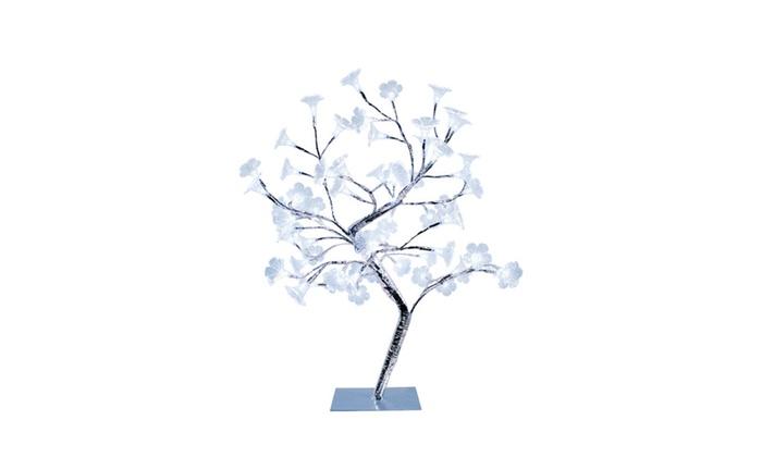 Alltherages Large White Morning Glory LED Lighted Decorative Tree