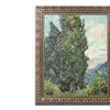 Van Gogh 'Cypresses 1889' Ornate Framed Art