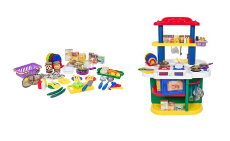 Deluxe Children Kitchen Cooking Pretend Play Set With Accessories df9b0b93-c5f7-4b4e-8545-8a6004952aeb
