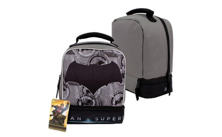"Batman v Superman Drop Bottom Lunch Bag - 9.2""H b8b9b139-4e64-49b2-9700-bdce7483f1b5"