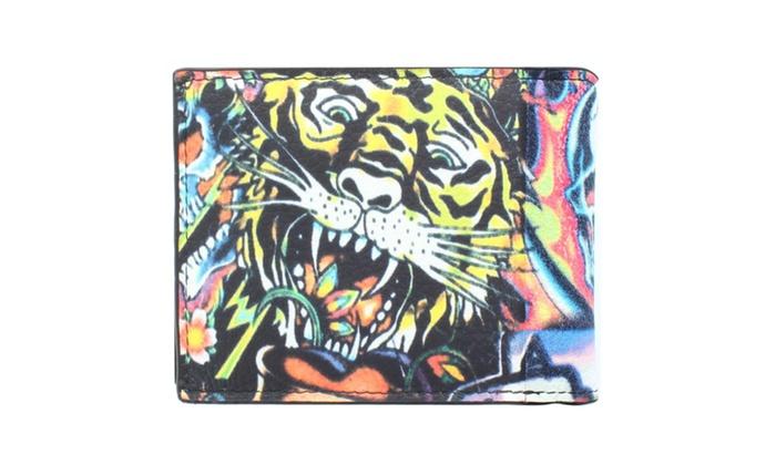Men's Fashion 'Ed Tiger & Calra' Wallet WLT-U0017 in Multi Color