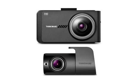 Thinkware X700 1080p 2.7-Inch LCD Dash Cam and Rear View Camera Bundle with GPS