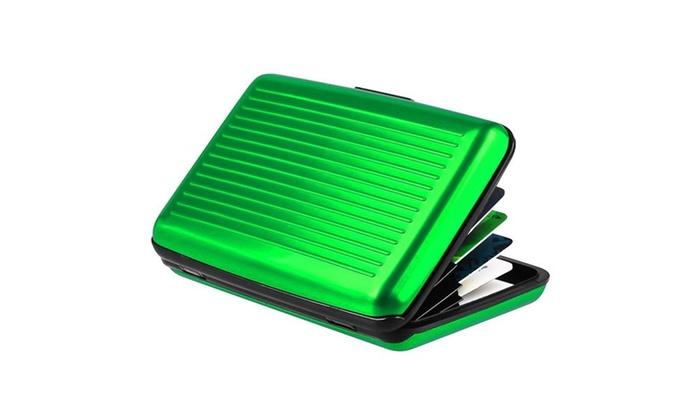 Zodaca Green Business Aluminum ID Credit Card Wallet Case Holder Metal