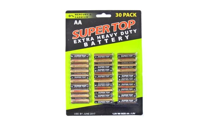 Buy It Now : 30pc Heavy Duty AA Battery Per Card (Pack of 2)