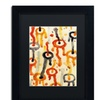 Amy Vangsgard 'Circle Encounters 9' Matted Black Framed Art