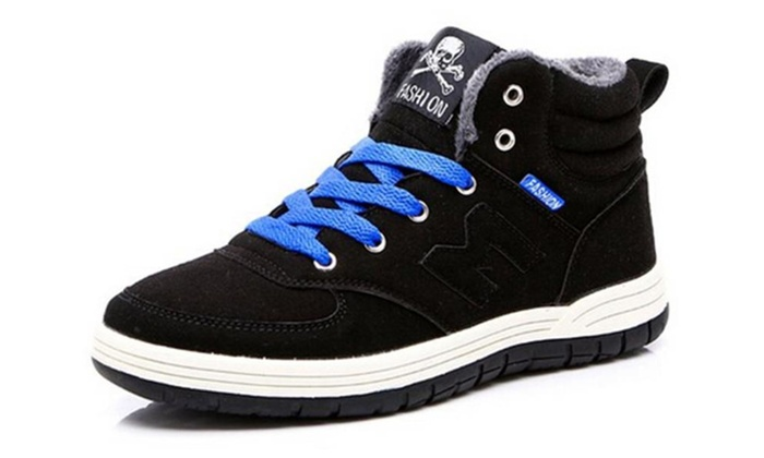Men's Casual Winter Warm Snow Boots Skate Shoes High Top Sneakers