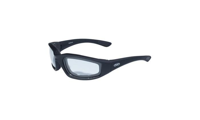 Global Vision Kickback Black Frame w-EVA Padding Clear Lens
