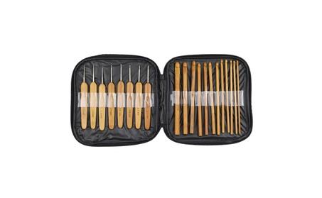 20pcs Bamboo Handle Aluminum Crochet Hooks Knitting Needles Set 4c42ead2-f754-48de-9cf1-6c0ac25834d4