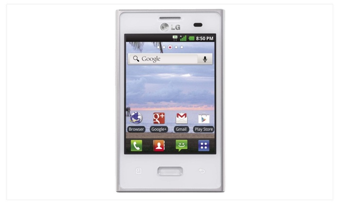 Net10 LG Optimus Dynamic L38C Prepaid Smartphone (White)