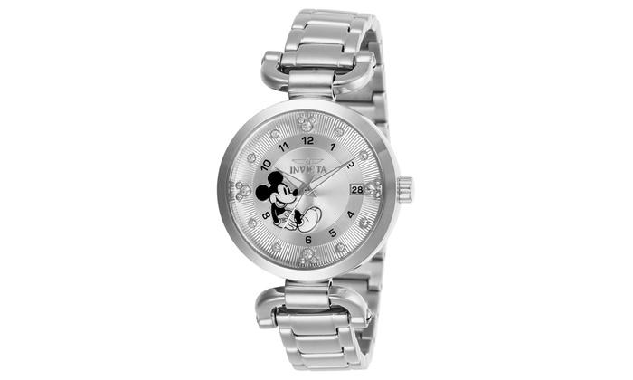 62210aade Invicta Women's 27290 Disney Quartz 3 Hand Silver Dial Watch   Groupon