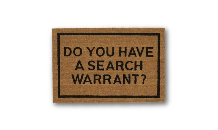 Clever doormats do you have a search warrant brown coir doormat groupon - Clever doormats ...
