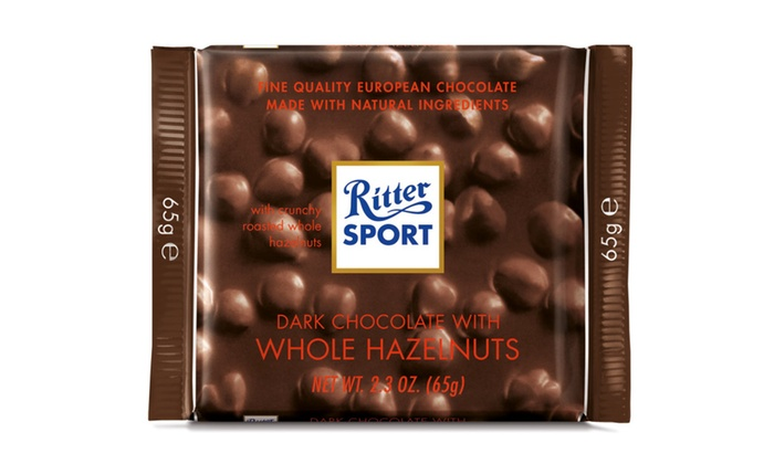 Ritter Sport Dark Chocolate With Whole Hazelnuts, 2.3 Oz. 11 Count