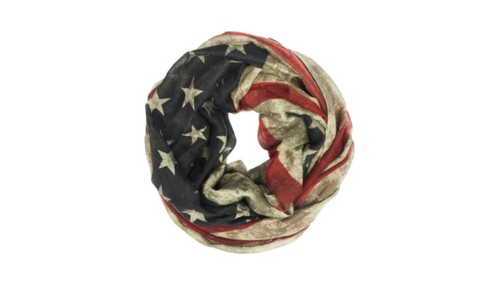 Infinity American Flag Scarve