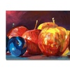 David Lloyd Glover Ripe Plums and Apples Canvas Print