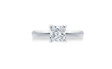 0.50 Carat Princess Solitaire Ring in 14k Gold (Premium Better Quality)