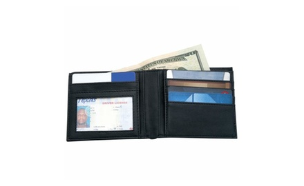 Men's Solid Genuine Leather Bi-Fold Wallet