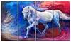 Blue Horse - Animal Glossy Aluminium Art artwork
