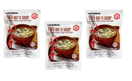 Kikkoman Instant Tofu Miso Soup (Soybean Paste Soup with Tofu), 3 Bags f1e3040c-7c18-44f6-977d-ed3e32d06cdc