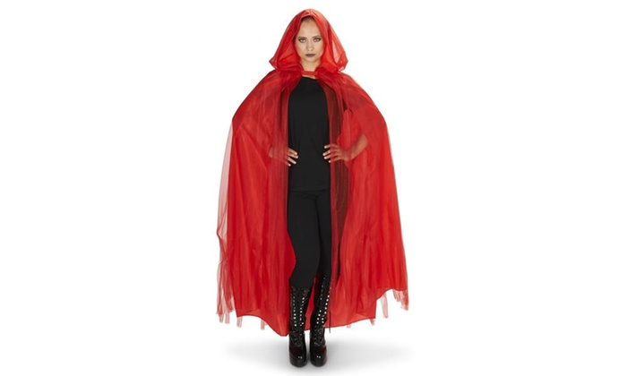 Red Mesh Adult Cape
