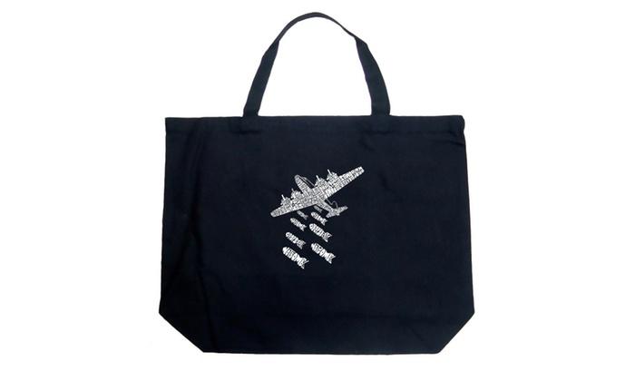 Large Tote Bag – DROP BEATS NOT BOMBS