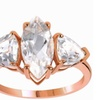3.85 Carat Genuine White Topaz 925 Sterling Silver Fashion Ring