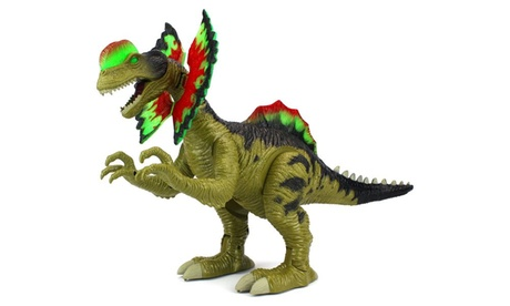 VT Cretaceous Dilophosaurus Walking Dinosaur Figure (Colors May Vary) 245133fe-3995-4019-b460-6d365857fd6c