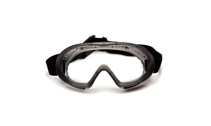 Pyramex Capstone Shield Clear AF Lens Goggle w/Clear Shield