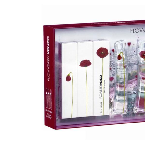 82bb1a4c Kenzo Flower Coffret 3 Piece Eau De Parfum Mini Gift Set For Women | Groupon