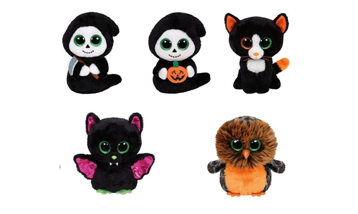 7c5027aee29 ty beanie boos 6 plush halloween set bat owl cat ghosts pumpkinscythe
