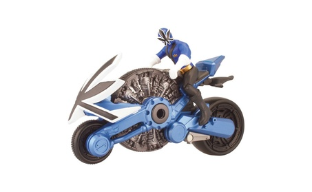"Power Ranger Samurai Blue Cycle with 4"" Action Figure b73528e6-fe03-446f-a7fa-71fccf76afd2"