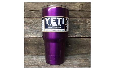 New Purple YETI 30oz Rambler Tumbler Thermos With Free Steel Straw ca8f6e34-ea0c-44c0-9f0e-035c8d979e6c