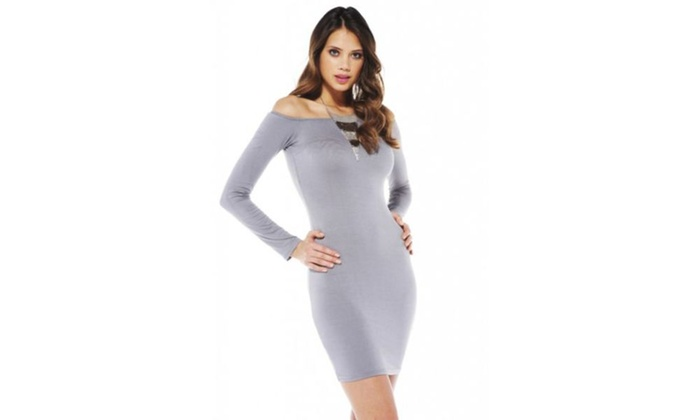 AX Paris Off The Shoulder Bodycon   Dress
