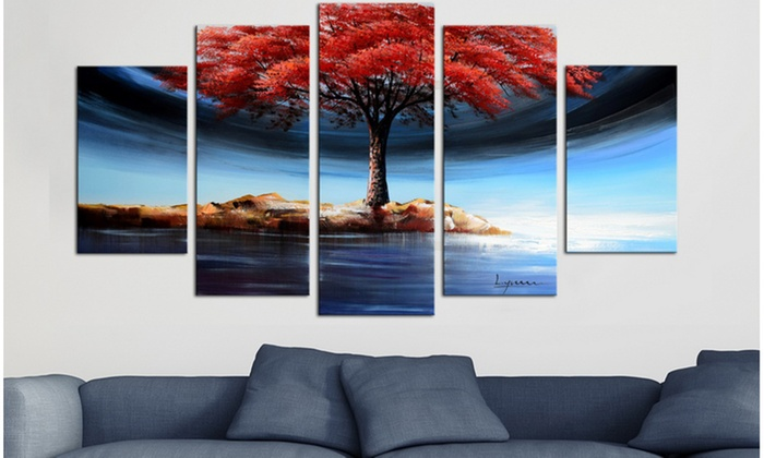 up to 64 off on gallery wrapped canvas art groupon goods