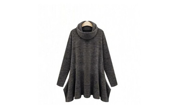 Women's Fashion Pure Color Turtleneck Sweater
