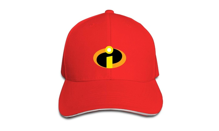 Incredibles Superhero I Logo Baseball Cap Hats Red