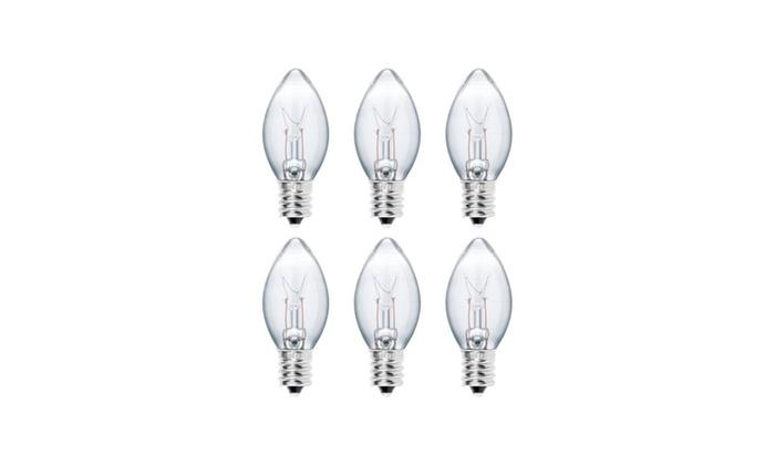 15 Watt Himalayan Salt Lamp Bulbs Socket Incandescent Light 6 Pack