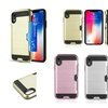 For Apple iPhone XR Card To Go Hard TPU Hybrid Brushed Case Cover w/card slot