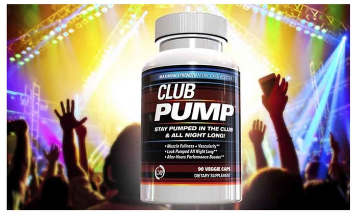 Buy It Now : Club Pump, Nitric Oxide Booster,Post Workout,Show Off Muscles - 1 Bottle