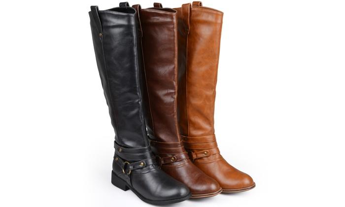 13e9b3667dea Journee Collection Womens Extra Wide Calf Knee-high Riding Boots ...