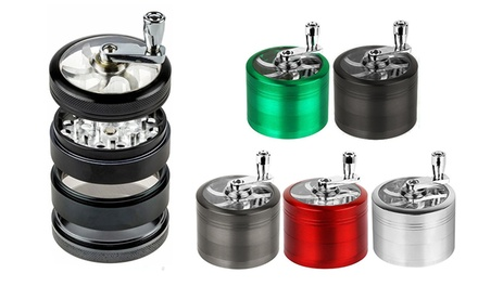 Titanium Herb and Tobacco Grinder with Hand Mill