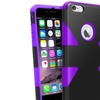 Insten Purple Dynamic Hybrid Hard Soft Cover Case For iPhone 6 Plus