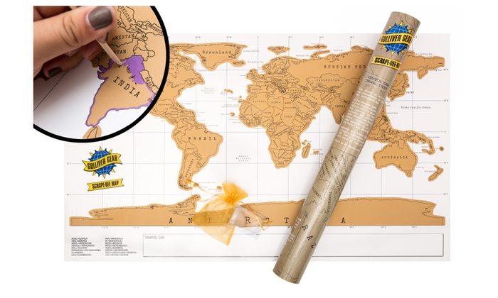 Scratch off world map relive precious memories great gift groupon scratch off world map relive precious memories great gift gumiabroncs Gallery