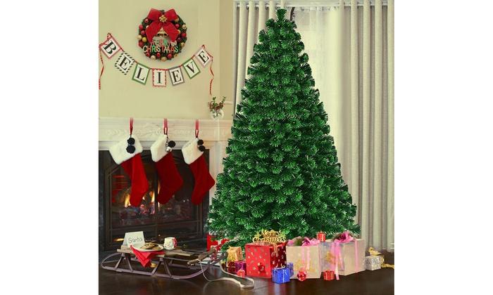 7 Ft Christmas Tree Prelit.5 6 7ft Pre Lit Fiber Optic Artificial Christmas Tree W 230
