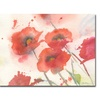 Sheila Golden Swaying Red Poppies Canvas Print