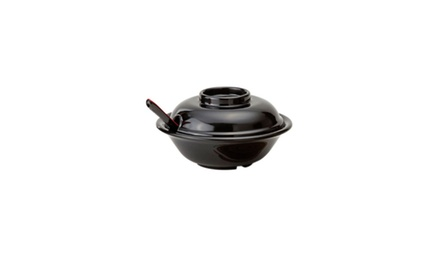 Black Fuji Bowl with Lid