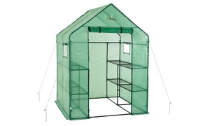 oGrow Walk-in Portable Lawn and Garden Greenhouse with Anchors