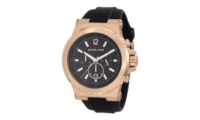 Michael kors chronograph silicone mens watch mk8184 groupon for Michaels craft store watches