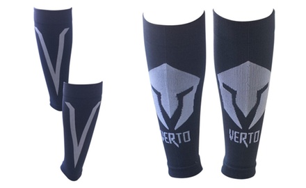 Shin & Calf Compression Leg Sleeves with Reflective Stripes (Pair)