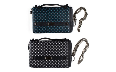 Members Only Leather Clutch Chain Wristlet With Snap-In Change Purse (Goods Women's Fashion Accessories Handbags) photo